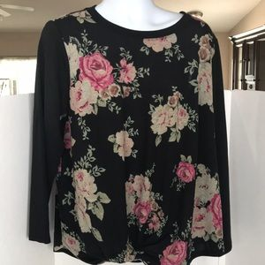 Alyx Front-Tied Floral Top Women's size 2X New